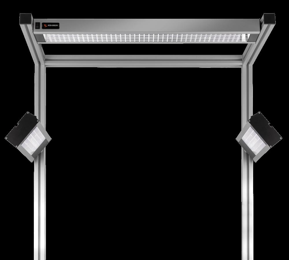 Spelsberg LED-Arbeitsplatzbeleuchtung Parabolraster
